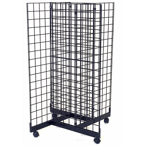 Grid Pinwheel Unit with 2'w x 4'h Grid Panels
