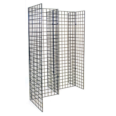 Freestanding Grid Unit with Five 2'x6' Panels
