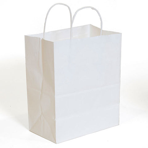 White Kraft Shopping Bag
