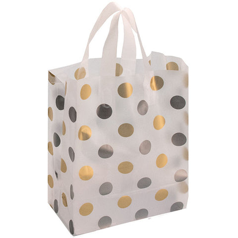 Frosted Bag - Polka Dot (Silver/Gold)
