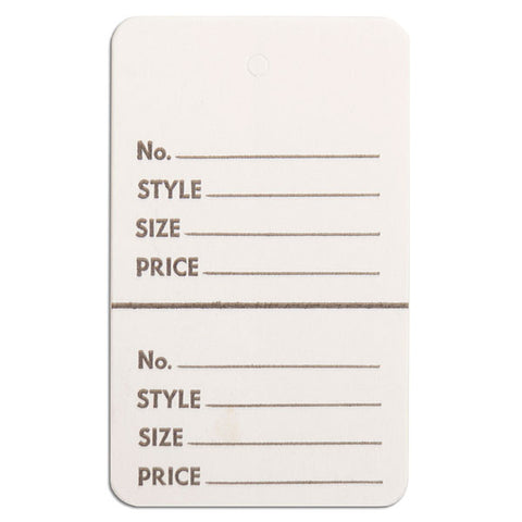 Perforated Merchandise Tags Without Strings