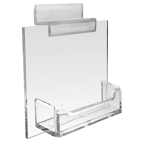 Slatwall Plex Business Card Holder - Single