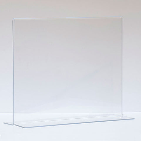 "Bottom load acrylic sign holder, counter top - 14""w x 11""h"