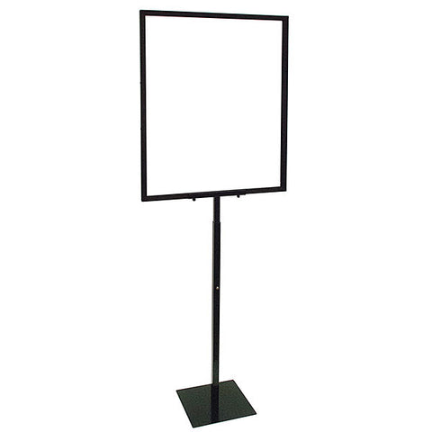 Adjustable Sign Holder w/ Removable Head - Black