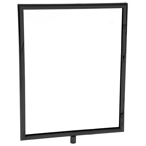 "Sign Frame - Mitered Corners with 1/4"" & 3/8"" Fitting - Black"