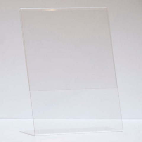 Slant Back Acrylic Sign Holder