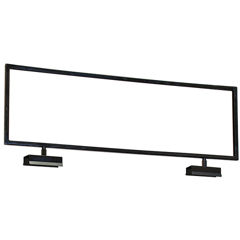 Sign Holder - Topper Fits Square Tube - Black