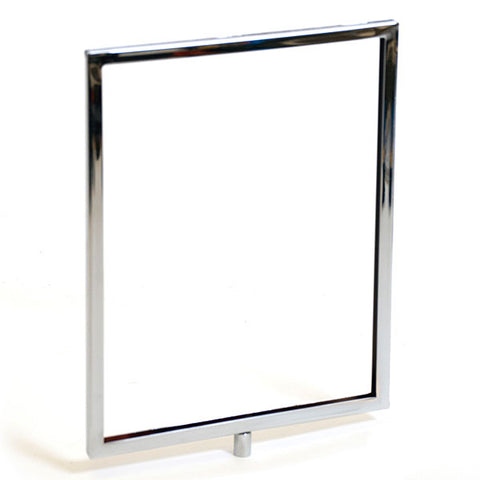 "Sign frame mitered corners with 1/4"" & 3/8"" fitting - chrome"