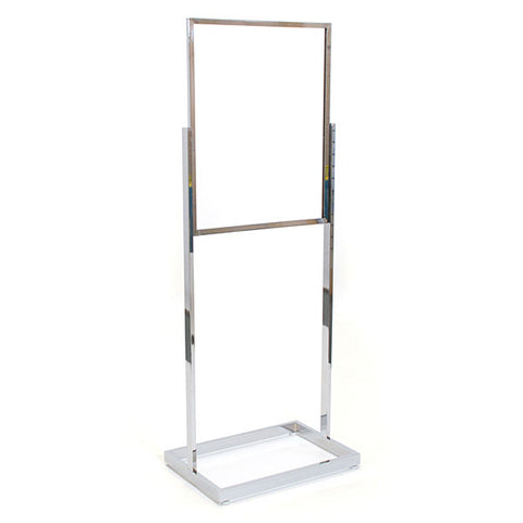 Floor Standing Sign Holder - Rectangular Tube