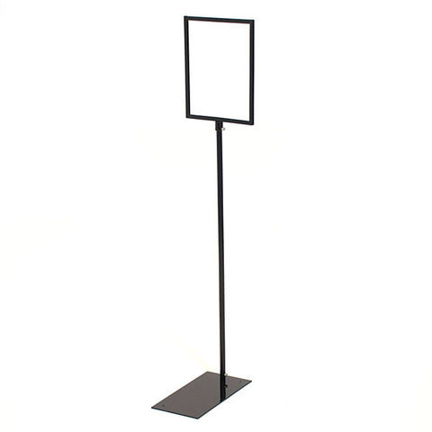 Sign Holder - Floor Standing - Black Metal