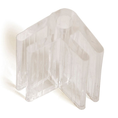 "Lexan Glass Connector 3/16"" - Clear   (priced per 100)"