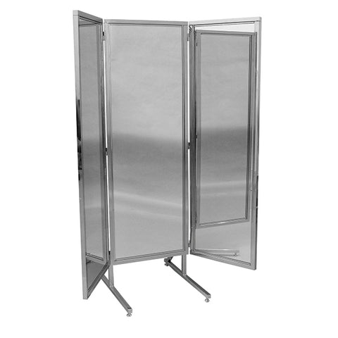 "3-Way Mirror 18"" x 60"" Wings with Chrome Stand"