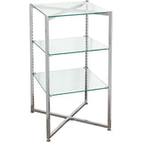 Glass Tower Folding Chrome - Must ship LTL
