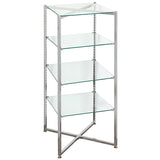 Glass Tower Folding - Chrome - Must Ship LTL