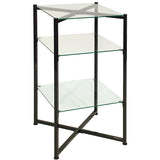 Glass Tower Black, Folding Must Ship LTL