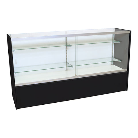 "Showcase, Front Opening Black - W/Light 38""H x 18""D"