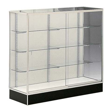 Upright Aisle Display Case Mirror Back