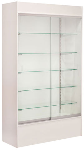 "Wall Unit Display - White - 48"" with Light"