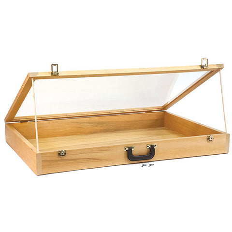 Portable Wood Showcase with Carrying Handle