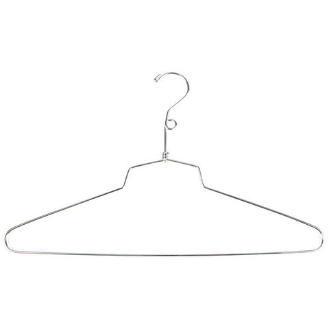 "Salesman Dress Hanger- 16"" - with Loop - Chrome"