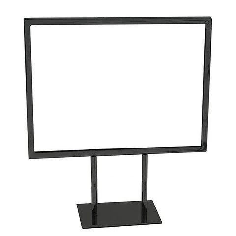 Metal countertop sign frame - Black