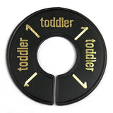 Size Ring - Toddler - Black with Gold Print
