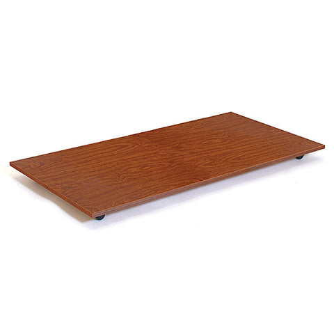 Rectangular Base with Casters - Cherry