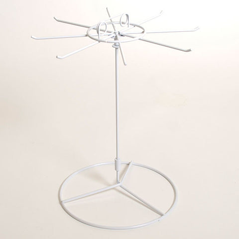 Counter Spinner Rack, 8-hook White Wire