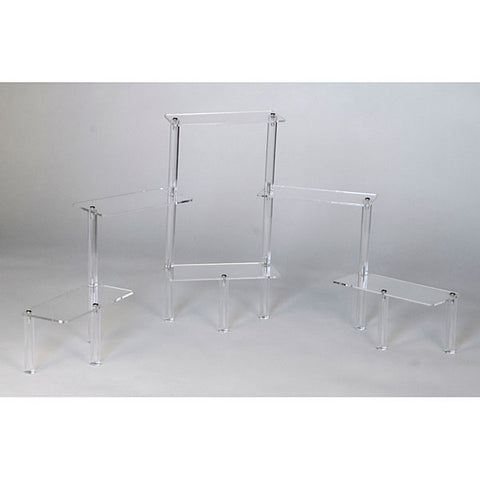 Acrylic Rectangular Platform Displayer, 6-Tier - Clear