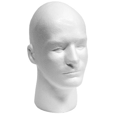 Styrofoam Head - Male with Face