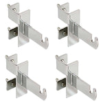 Grid Clamp Kit for Double Bar Box Racks - Chrome