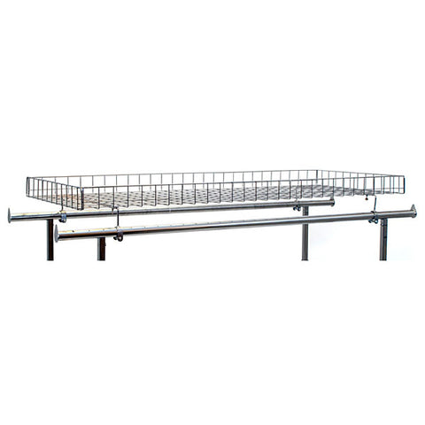 Double Rail Rack Grid Basket Topper