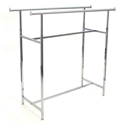 Double Rail Clothing Rack - Chrome (2 ctns)