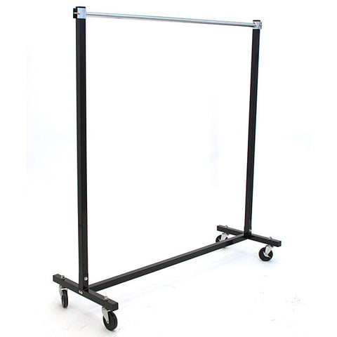 Folding Rack with Casters - Black