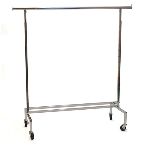 Rolling Rack - Square Tube - Chrome