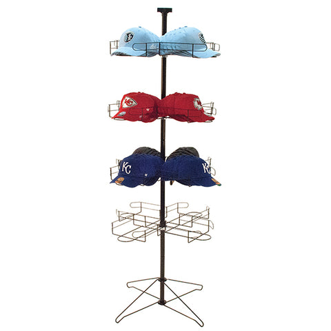 "Cap rack, floor standing 64""h - black"