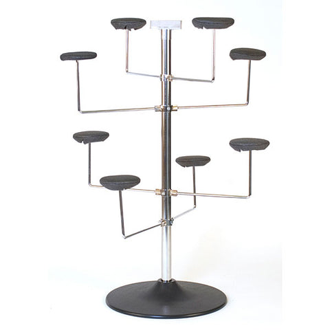 Millinery Rack - Holds 8 Hats - Countertop - Chrome