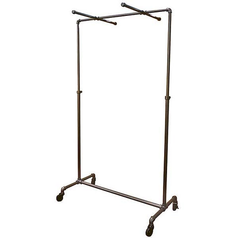 Pipeline Ballet Rack w/ Cross Bars and Casters - Adjustable