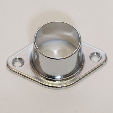 Wall Mount Flange Round Hangrail or Pipe - Chrome