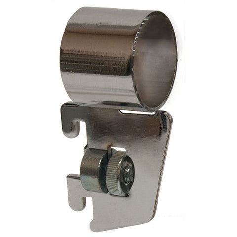 "Hangrail Bracket Side Mount for Round Hangrail - 1/2"" Slot 1"" OC Standards - 40 Series - Chrome"