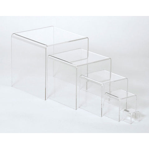 Acrylic Risers - Set of 5 - Clear
