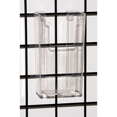 Gridwall Literature Holder Molded - clear