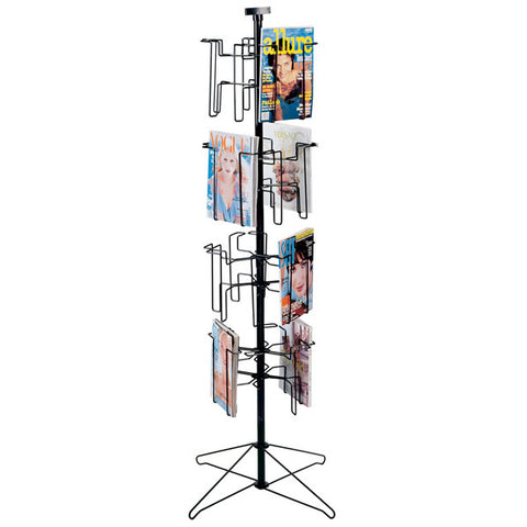 "Literature holder, 16 pocket floor-standing displayer with 8-1/2""x11"" pockets 1""deep"