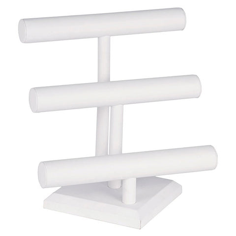 Jewelry T-bar - White Leatherette