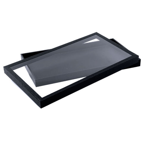 Jewelry Tray with Acrylic Top Lid - Black - (2 Pieces)