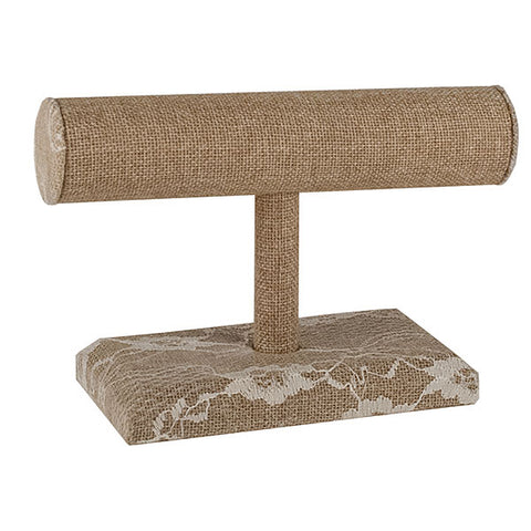 Jewelry T-Bar - Burlap & Lace
