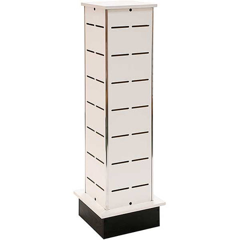 Shoe Tower, White, Aluminum Corners