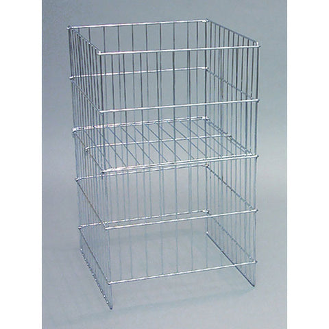"Wire dump basket 17""x18""x30""high - Chrome"