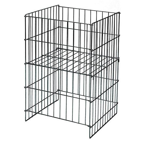 Wire Dump Basket w/Adjustable Shelf - Black (like 54102)