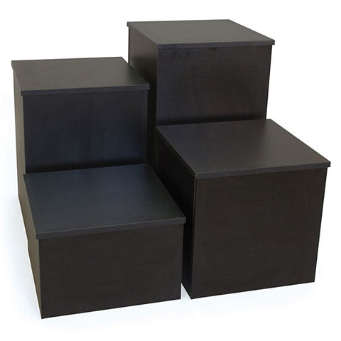 Knock Down Pedestal, Square - black